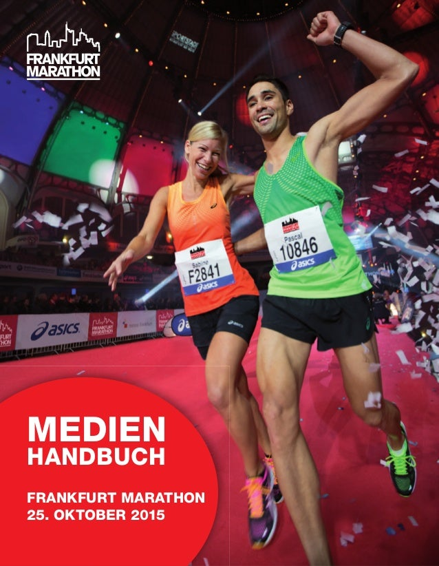 MEDIEN HANDBUCH FRANKFURT MARATHON 25. OKTOBER 2015