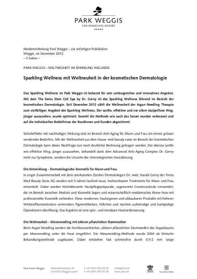 Medienmitteilung Park Weggis – zur sofortigen PublikationWeggis, im Dezember 2012– 3 Seiten –PARK WEGGIS – WELTNEUHEIT IM ...