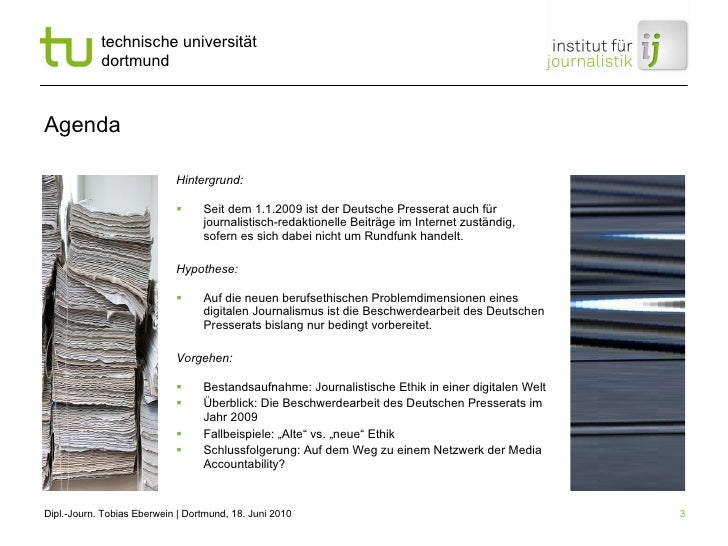 Agenda <ul><li>Hintergrund:  </li></ul><ul><li>Seit dem 1.1.2009 ist der Deutsche Presserat auch für journalistisch-redakt...