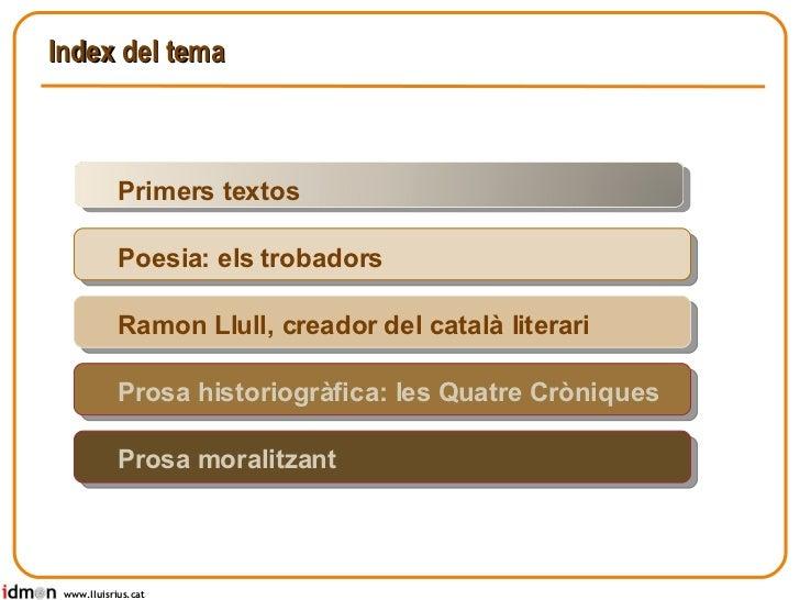 Literatura catalana medieval Slide 2