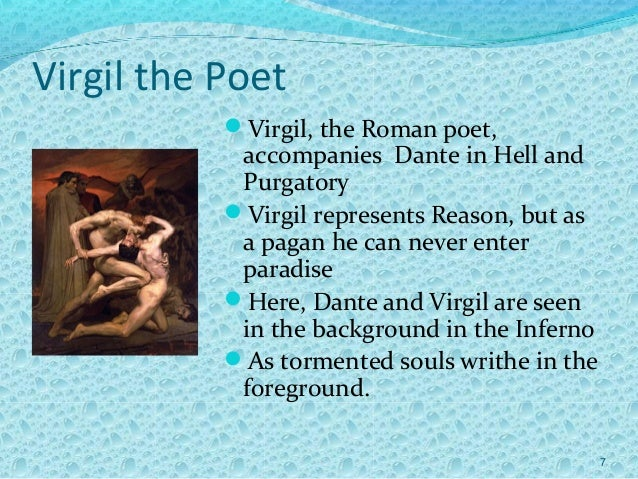 Discuss Virgil's relationship with Dante and his role in the narrative. Dante's Inferno