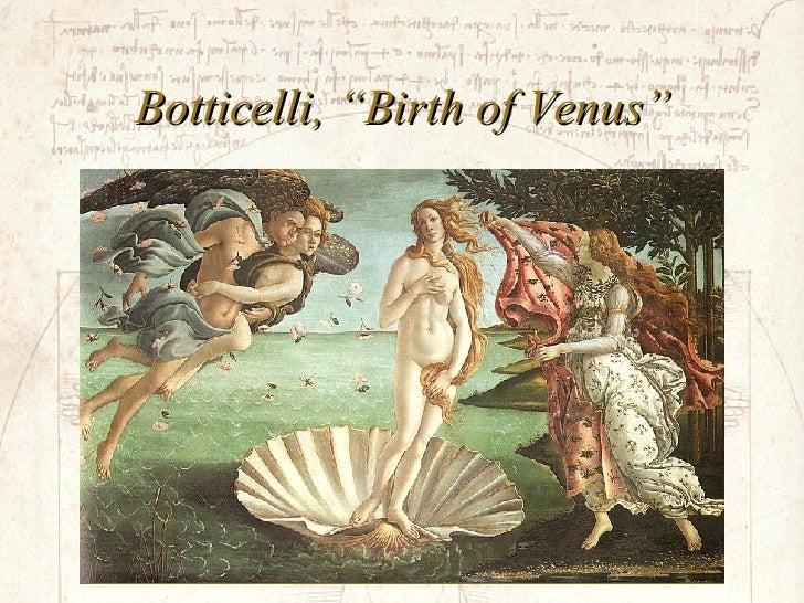 """Botticelli, """"Birth of Venus"""""""