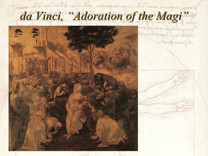"da Vinci, ""Adoration of the Magi"""