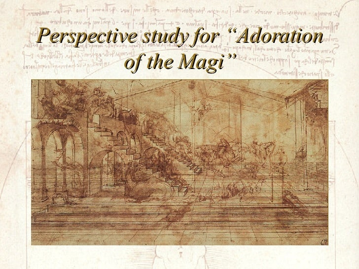 """Perspective study for """"Adoration of the Magi"""""""