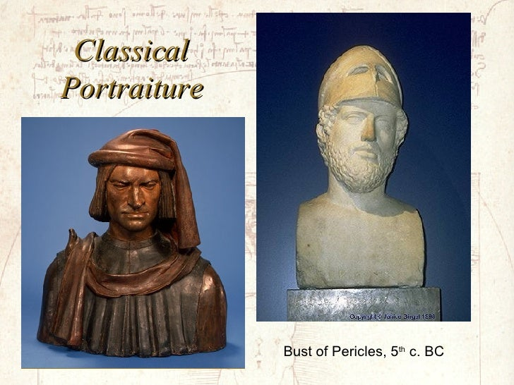 Classical Portraiture Bust of Pericles, 5 th  c. BC