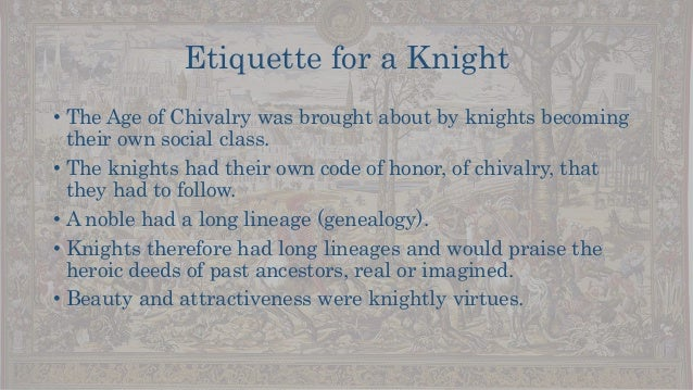 medieval chivalry essays Essay on chivalry lesson in ivanhoe by sir by applying the code of chivalry, the knights in medieval time displayed certain character traits that would.
