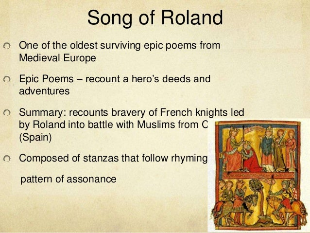 song of roland essay thesis The song of roland essay by outenml, august 2008  download word file, 8 pages, 10 downloaded 1221 times keywords spain, middle ages  the song of roland .