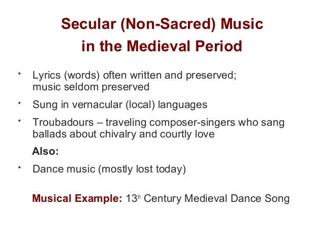 Music Of The Medieval Period