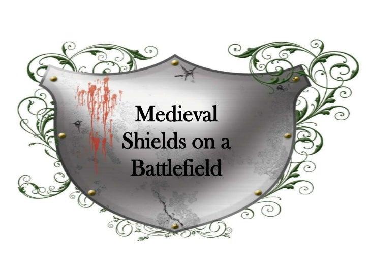 Medieval Shields on a Battlefield<br />