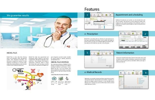 Clinic Management system - Medil plus software e-brochure