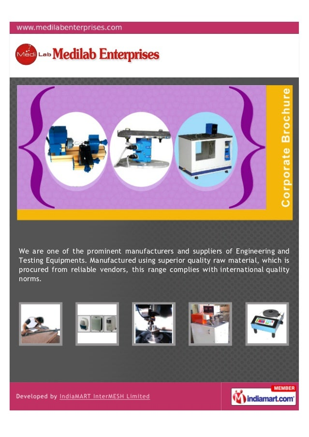 We are one of the prominent manufacturers and suppliers of Engineering andTesting Equipments. Manufactured using superior ...