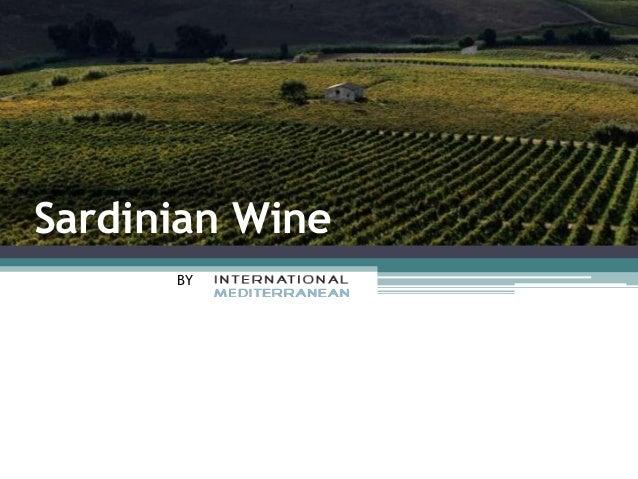 Sardinian Wine BY