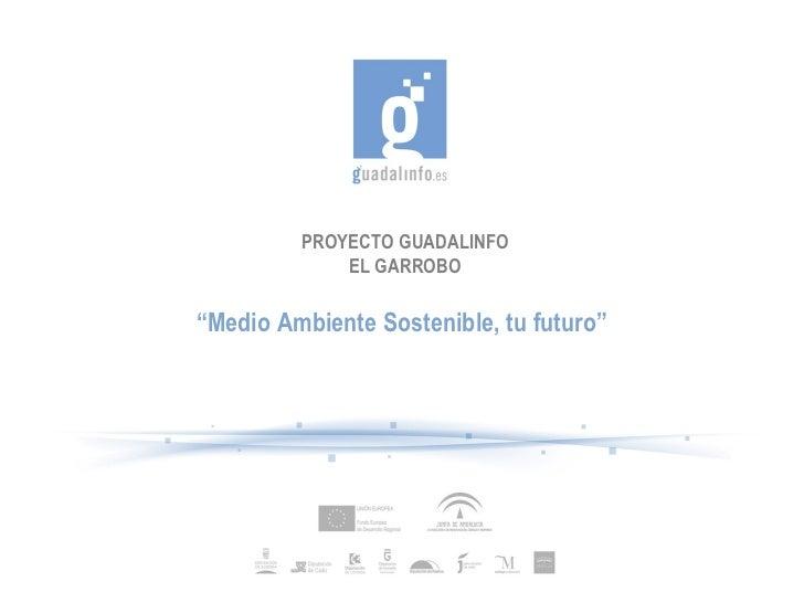 """PROYECTO GUADALINFO             EL GARROBO""""Medio Ambiente Sostenible, tu futuro"""""""