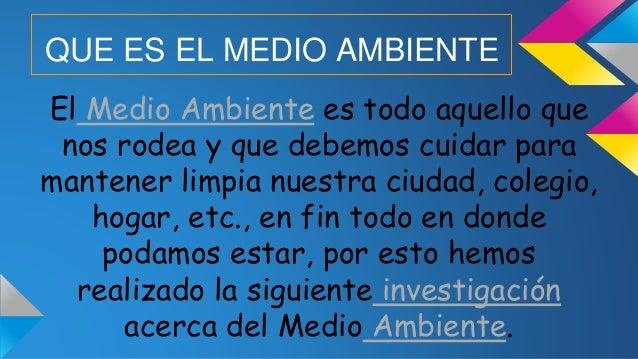 MEDIO AMBIENTE Slide 2