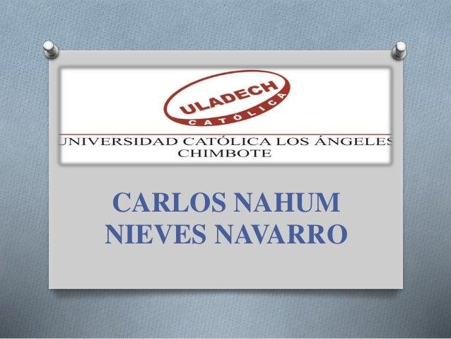 CARLOS NAHUM NIEVES NAVARRO