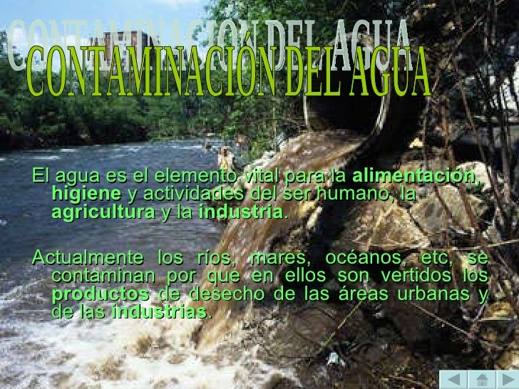 PROBLEMAS <ul><li>El agua es el elemento vital para la  alimentación ,  higiene  y actividades del ser humano, la  agricul...