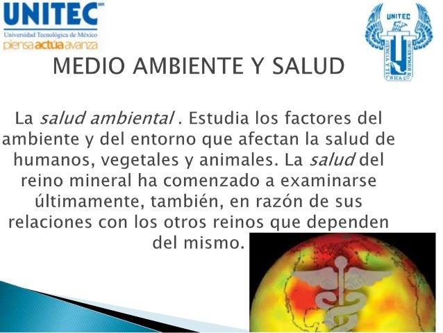 Medio ambiente y salud (enfermeria)
