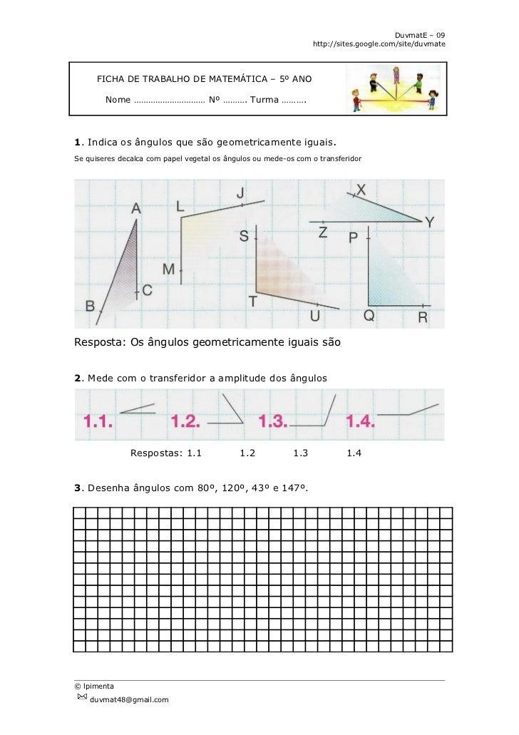 Medição de ângulos revisão
