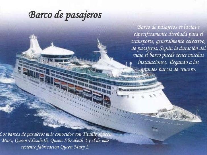 Medios de transporte marinos - Todo sobre barcos ...