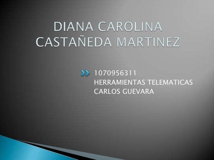 DIANA CAROLINA CASTAÑEDA MARTINEZ<br />1070956311<br />HERRAMIENTAS TELEMATICAS<br />CARLOS GUEVARA<br />