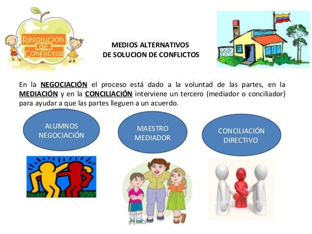 MEDIOS ALTERNATIVOS DE SOLUCION DE CONFLICTOS  En la NEGOCIACIÓN el proceso está dado a la voluntad de las partes, en la M...