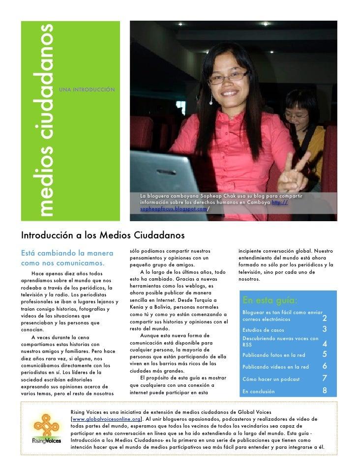 medios ciudadanos                       UNA INTRODUCCIÓN                                                          La blogu...