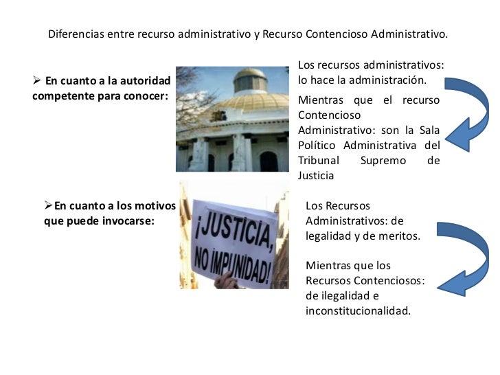 Diferencias entre recurso administrativo y Recurso Contencioso Administrativo.                                            ...