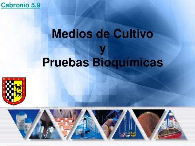 Medios de Cultivo y Pruebas Bioquímicas Cabronio 5.9