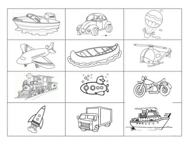 Transportes Por Tierra Para Colorear: Fichas De Medios De Transporte Para Colorear Medios De