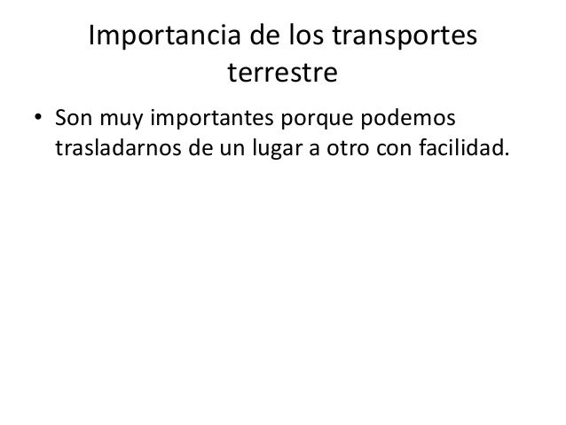 Medios de transportes terrestre Slide 3