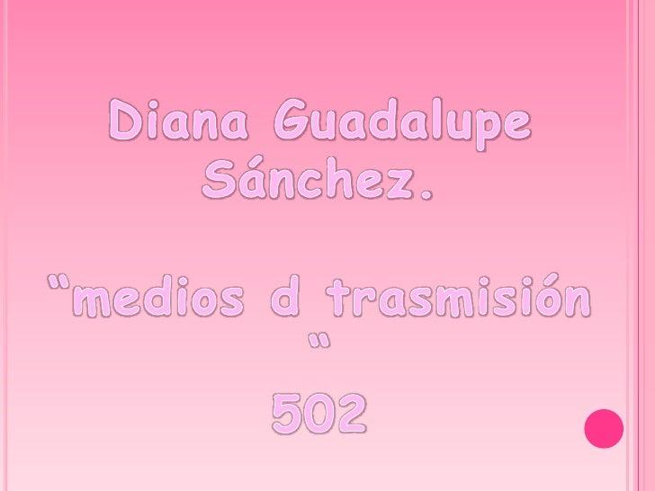 """Diana Guadalupe Sánchez.  """"medios d trasmisión """" 502"""