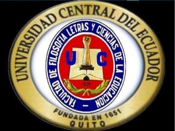 UNIVERSIDAD CENTRAL DEL ECUADOR    FACULTAD DE FILOSOFÍA ESCUELA DE COMERCIO Y ADMINISTRACION              DIDAGTICA   ...