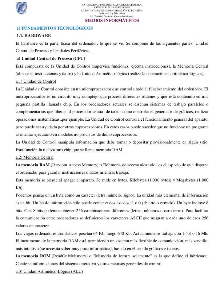 UNIVERSIDAD PANAMERICANA DE GUATEMALA.                                                CIENCIAS DE LA EDUCACIÓN            ...