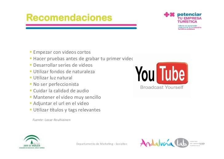 Recomendaciones   Empezarconvideoscortos Hacerpruebasantesdegrabartuprimervideo Desarrollarseriesde...