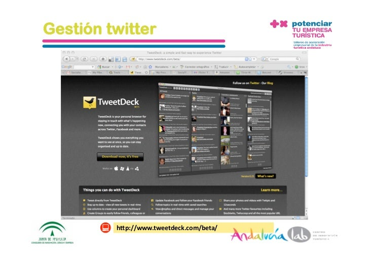 Gestión twitter                    h1p://www.seesmic.com      1/6/10   DepartamentodeMarke2ng‐Socialtec   120