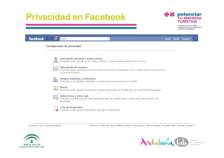 Privacidad en Facebook      1/6/10   DepartamentodeMarke2ng‐Socialtec   15