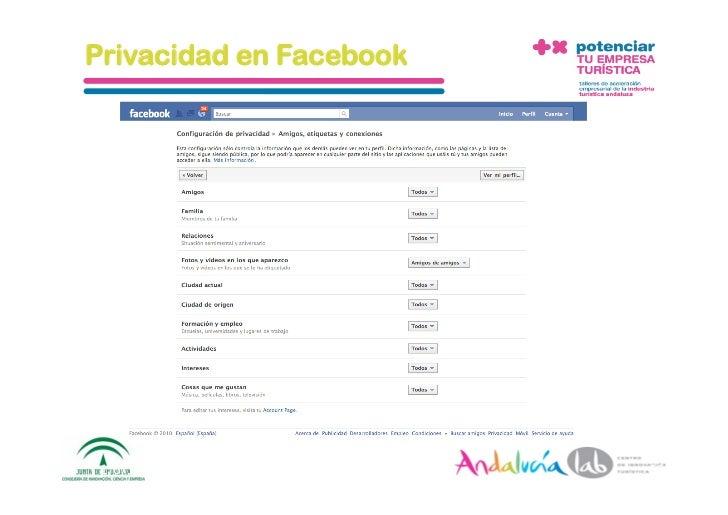 Privacidad en Facebook      1/6/10   DepartamentodeMarke2ng‐Socialtec   16