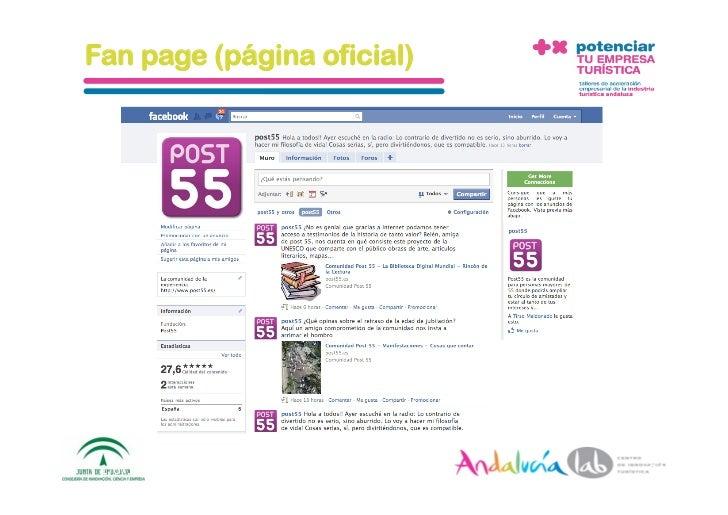 Fan page (página oficial)      1/6/10   DepartamentodeMarke2ng‐Socialtec   24