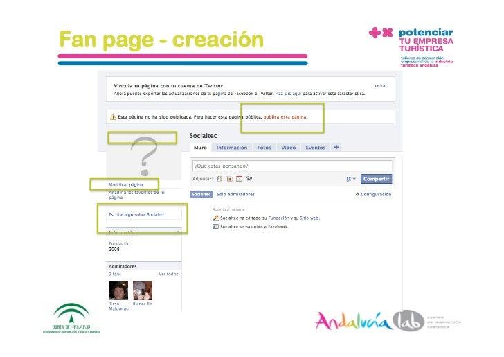 Fan page - creación     1/6/10   DepartamentodeMarke2ng‐Socialtec   52