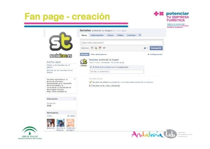 Fan page - creación     1/6/10   DepartamentodeMarke2ng‐Socialtec   53