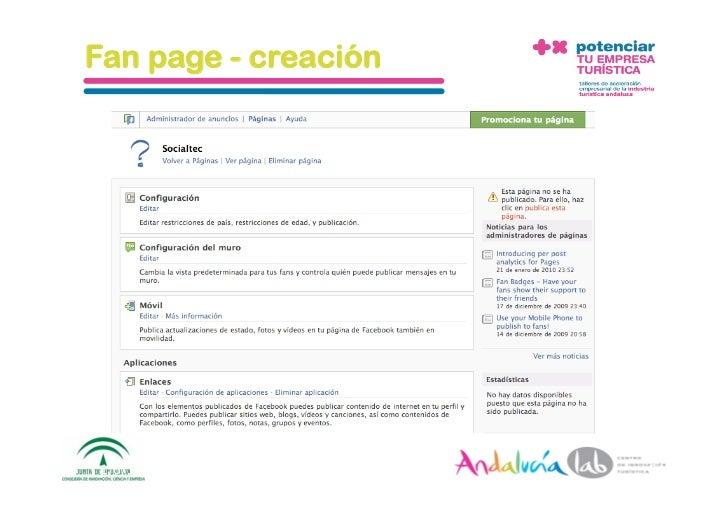 Fan page - creación     1/6/10   DepartamentodeMarke2ng‐Socialtec   54