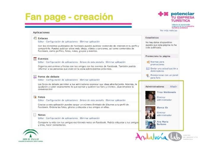 Fan page - creación     1/6/10   DepartamentodeMarke2ng‐Socialtec   55