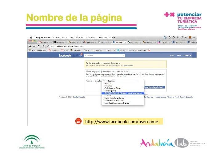 Nombre de la página                        h_p://www.facebook.com/username    1/6/10   DepartamentodeMarke2ng‐Social...