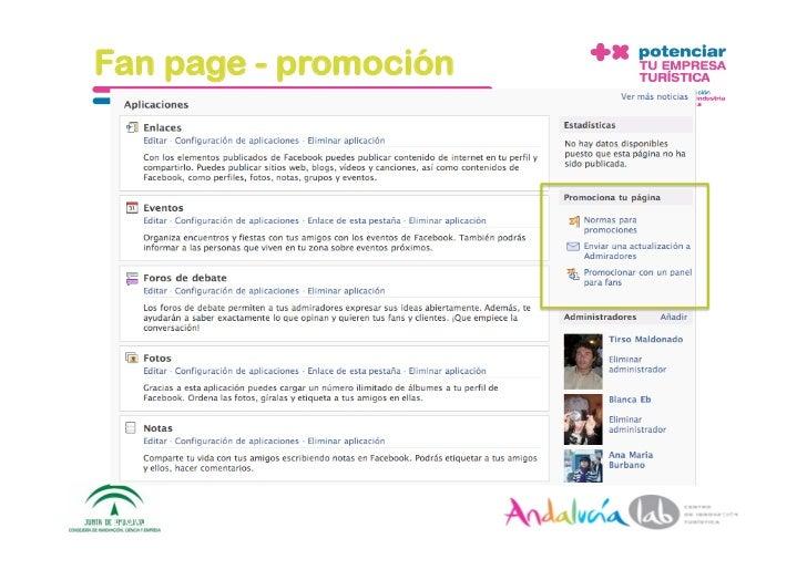Fan page - promoción     1/6/10   DepartamentodeMarke2ng‐Socialtec   58