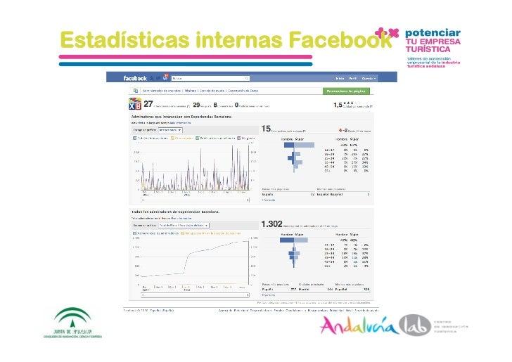 Estadísticas internas Facebook     1/6/10   DepartamentodeMarke2ng‐Socialtec   60