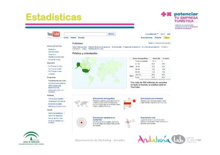 Estadísticas      1/6/10   DepartamentodeMarke2ng‐Socialtec   67