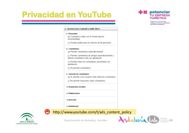 Privacidad en YouTube               h_p://www.youtube.com/t/ads_content_policy 1/6/10         DepartamentodeMarke2ng‐...