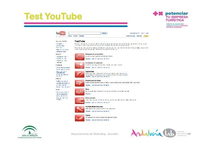 Test YouTube     1/6/10   DepartamentodeMarke2ng‐Socialtec   81