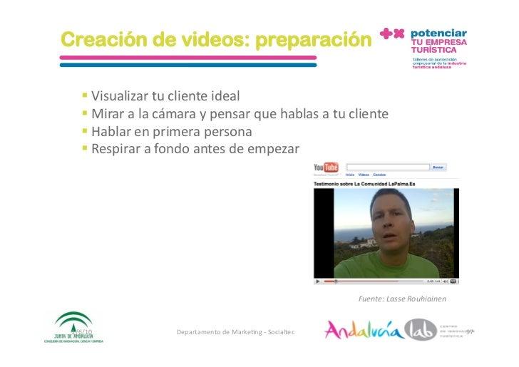 Creación de videos: preparación      Visualizartuclienteideal     Miraralacámaraypensarquehablasatucli...