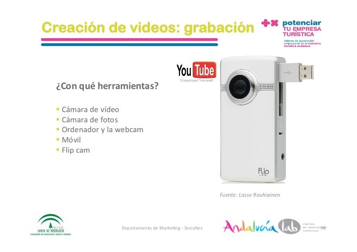 Creación de videos: grabación       ¿Conquéherramientas?      Cámaradevídeo     Cámaradefotos     Ordena...